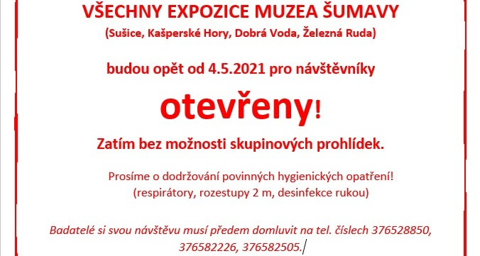 Muzeum Šumavy je otevřeno