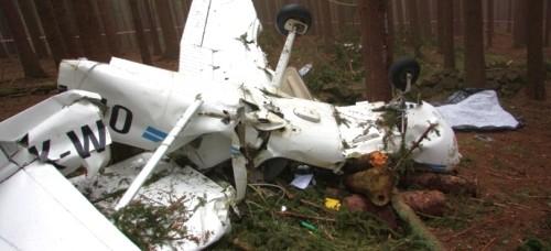 U Javorníka se zřítilo malé letadlo