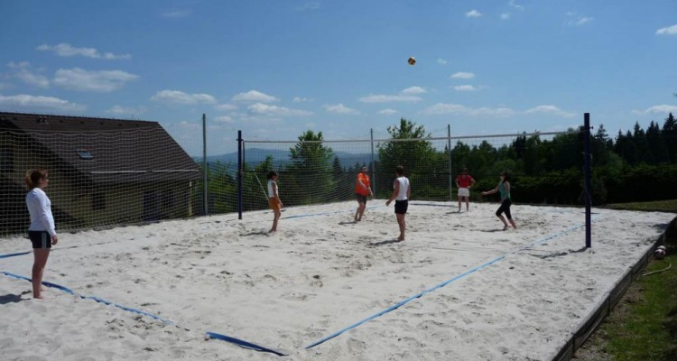 Hřiště na beach volleyball
