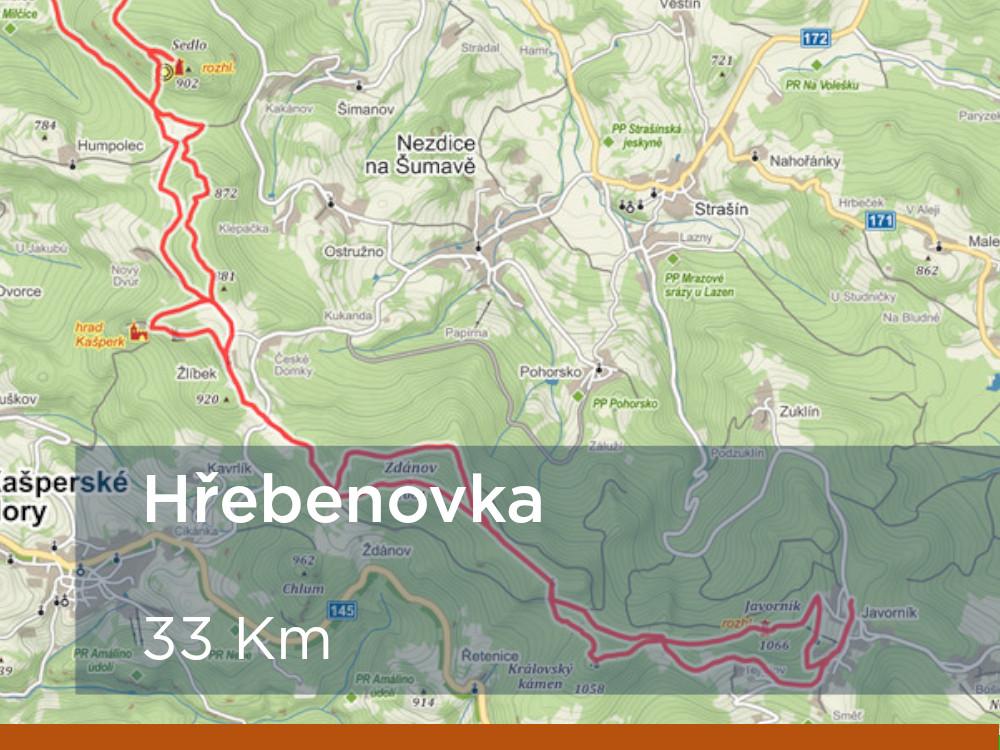 Trasa - Hřebenovka