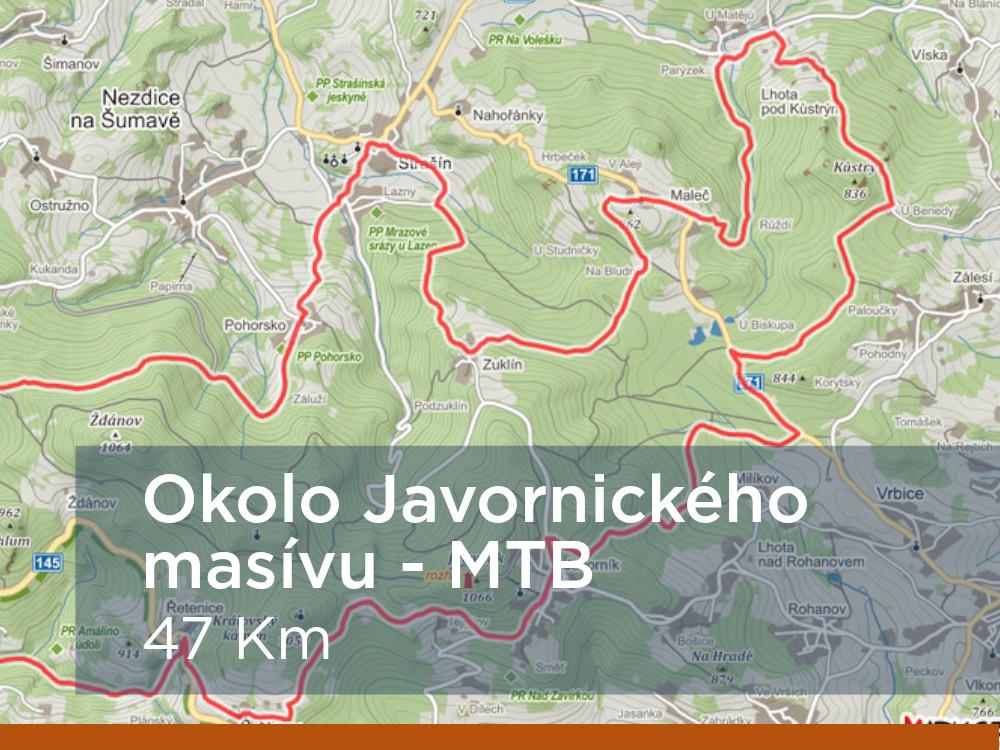 Trasa - Okolo Javornického masivu MTB