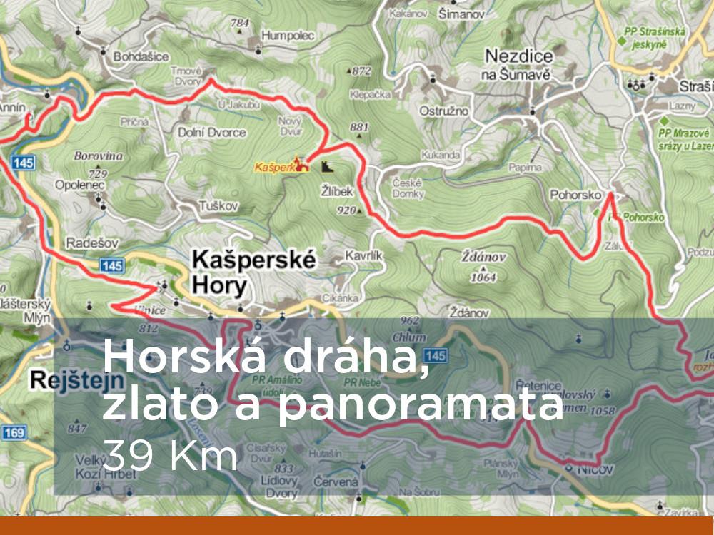 Trasa - Horská dráha, zlato a panoramata