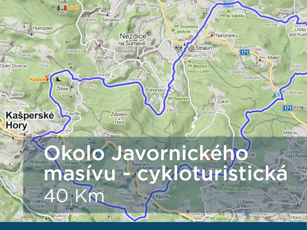 Trasa - Okolo Javornického masivu