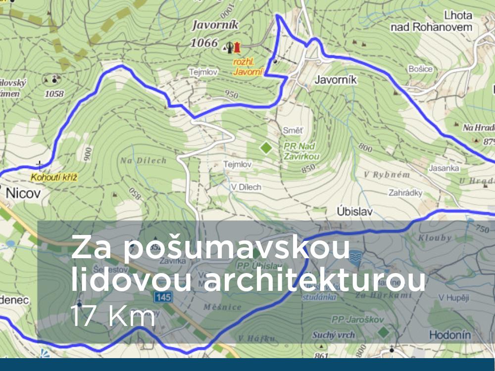 Trasa Za pošumavskou architekturou